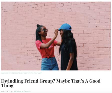 Dwindling Friend Group