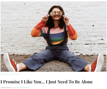 Like You Need To Be Alone